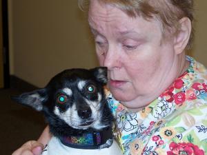 Donna enjoys a puppy_0